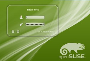 Tela de Logon OpenSUSE