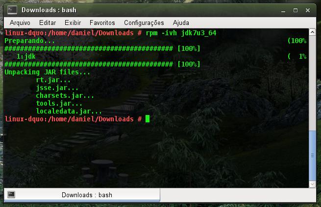 Instalando JDK via RPM