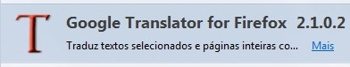 Google Translator for Firefox