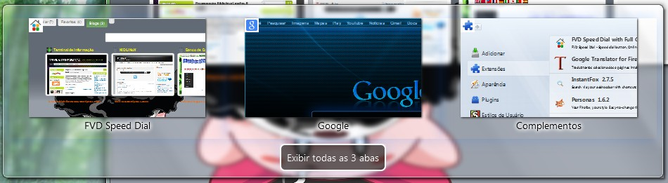 Alternando entre as abas (Ctrl+Tab)