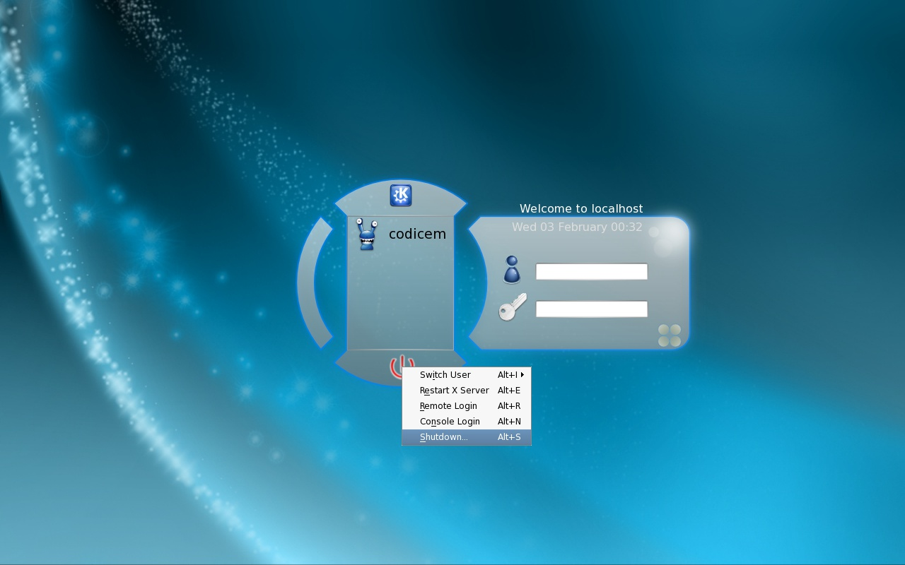 Exemplo de Tema do KDM - KStartboard