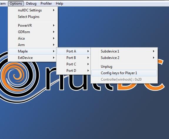 NullDC - Configuração do Controle