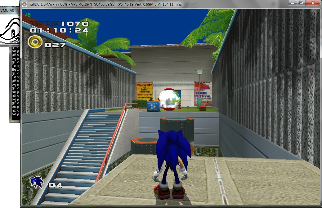 NullDC - Sonic Adventure 2