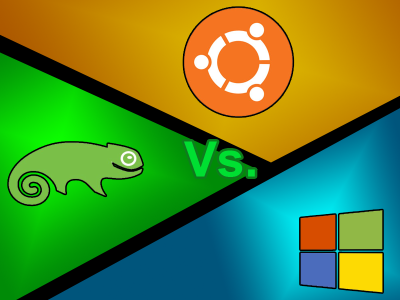 OpenSUSE Vs Ubuntu Vs Windows