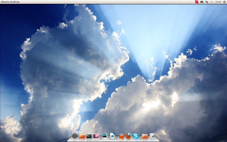 Ubuntu 12.10 com Cairo Dock