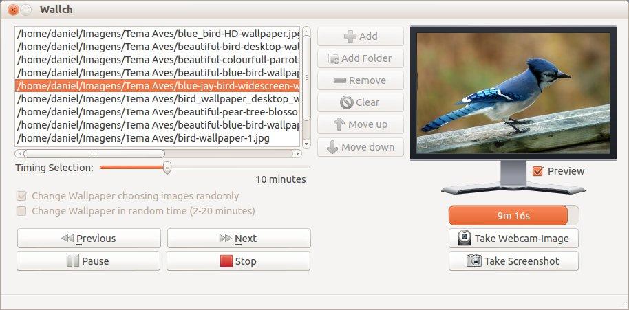 Wallch - Mudar fundo de tela automaticamente