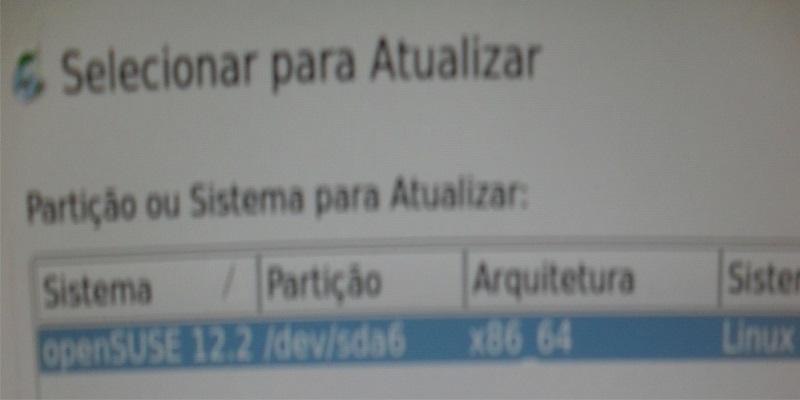 OpenSUSE que será atualizado