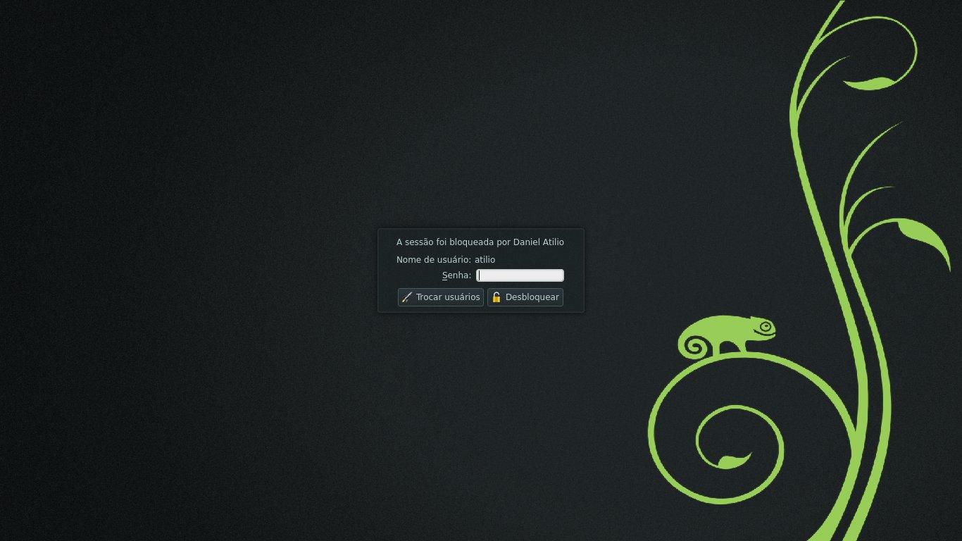 KDE - Tela de Bloqueio