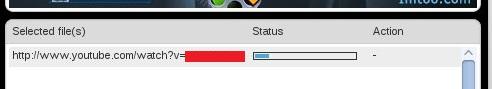 Barra de Status do processamento do vídeo