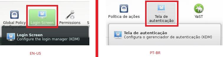Tela de Autenticação - KDE