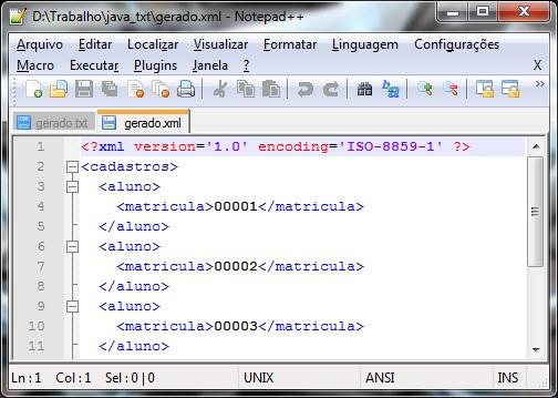 Criando XML com Java