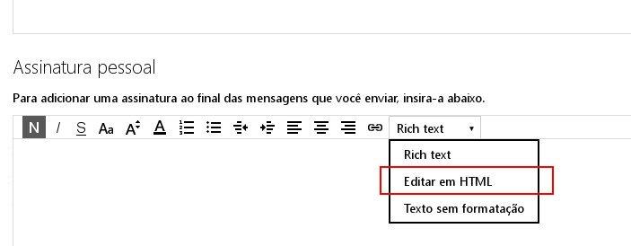 Editando em HTML