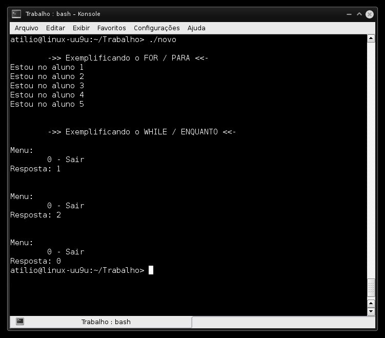 Exemplo de Programa que utiliza For e While