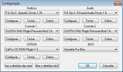 Configurações PCSX - Windows