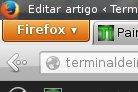 Botão Firefox em distros Linux
