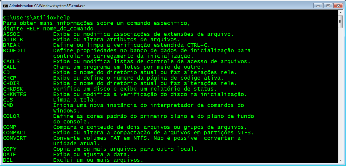 Prompt do Windows - estilo Matrix