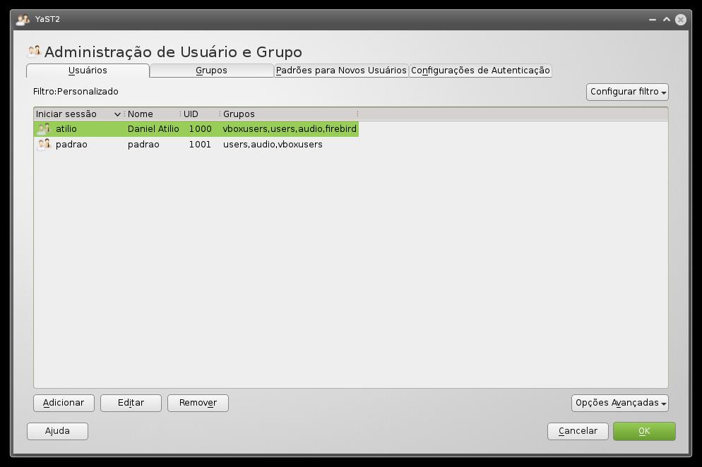 Administração de Usuários e Grupos
