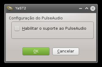 Desativando o suporte ao PulseAudio