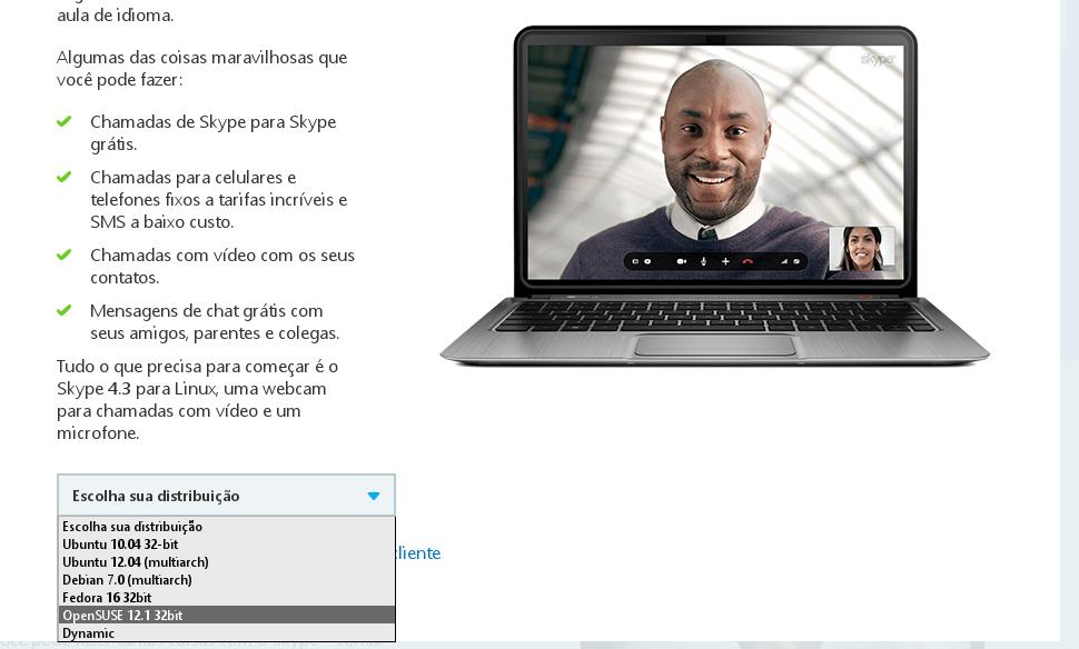 Baixando o Skype 4.3 para Linux