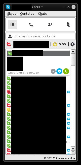 Tela Inicial Skype 4.3