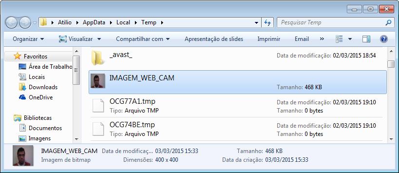 Imagem no diretório do Windows