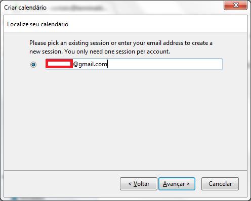 Inserindo o e-Mail