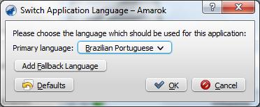 Escolhendo o idioma Português Brasileiro