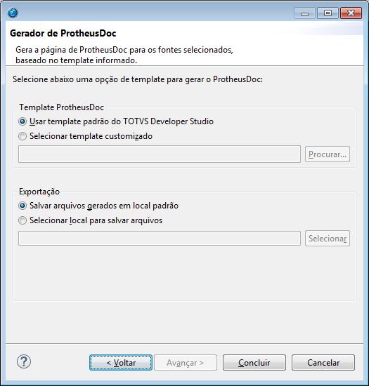 Exportação do ProtheusDOC