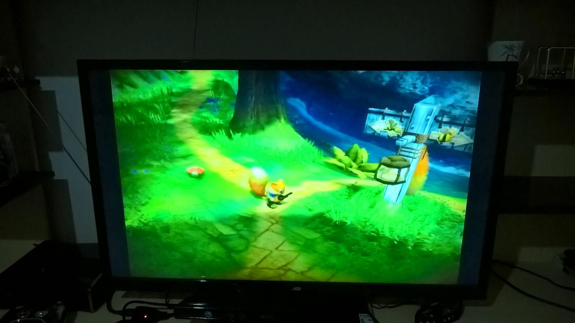 Jogo utilizando HDMI