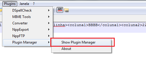 Show Plugin Manager