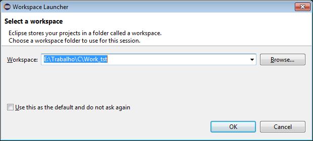 Definindo o diretório da Workspace