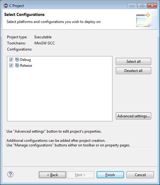 Definindo configurações utilizadas