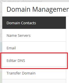 Editando o DNS