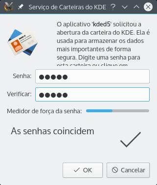 Criando uma carteira (se for utilizado o KDE)