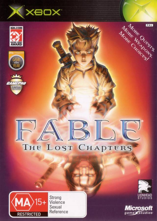 Capa do jogo Fable Lost Chapters