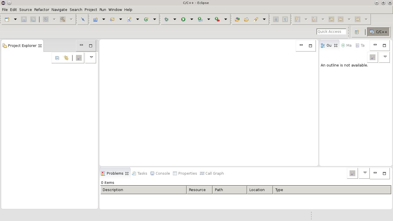 Eclipse com o tema GTK