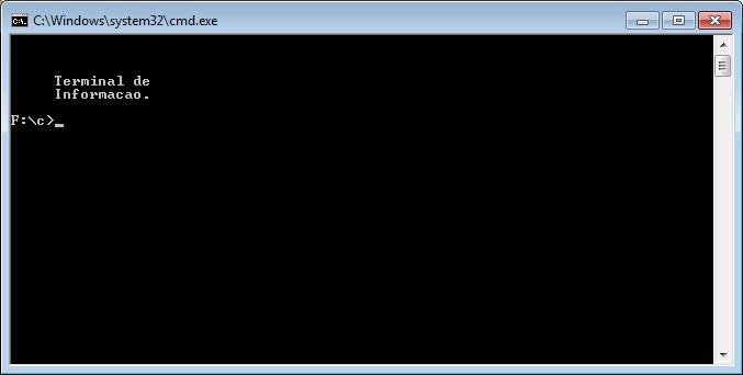 Exemplo de gotoxy no Windows