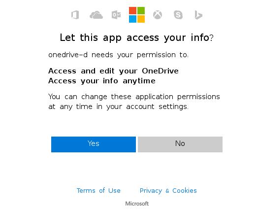 Permissão no OneDrive