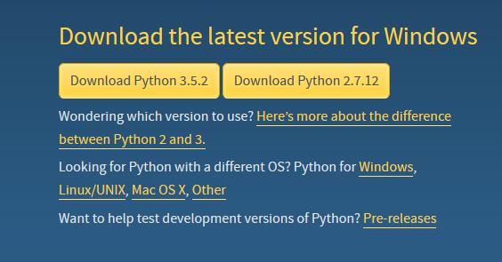 Opções de download