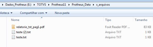 Arquivos sem compactação