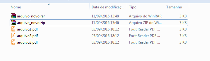 Arquivos dentro do diretório