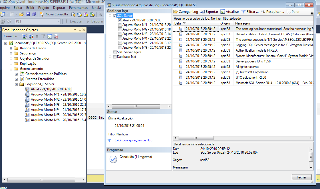 Limpeza SQL Server