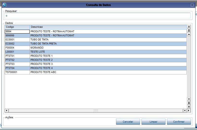 Consulta de dados através de query SQL