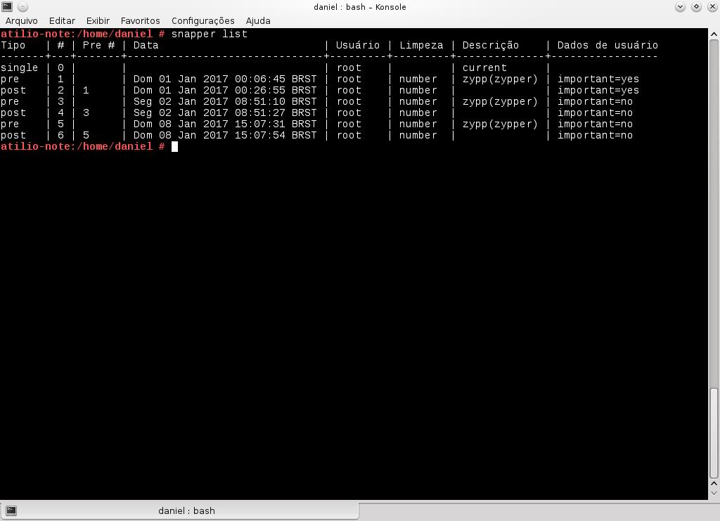 Verificando backups criados