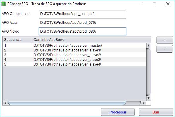 PChangeRPO - Troca de RPO