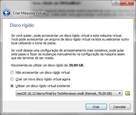 Configurando o disco