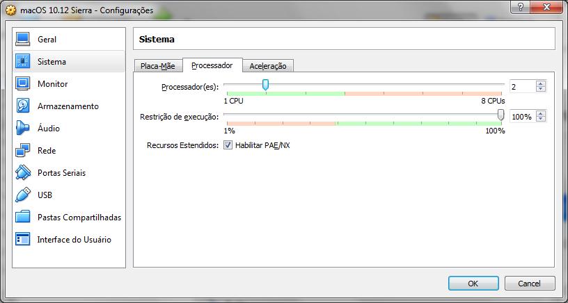 Configurando o Processador