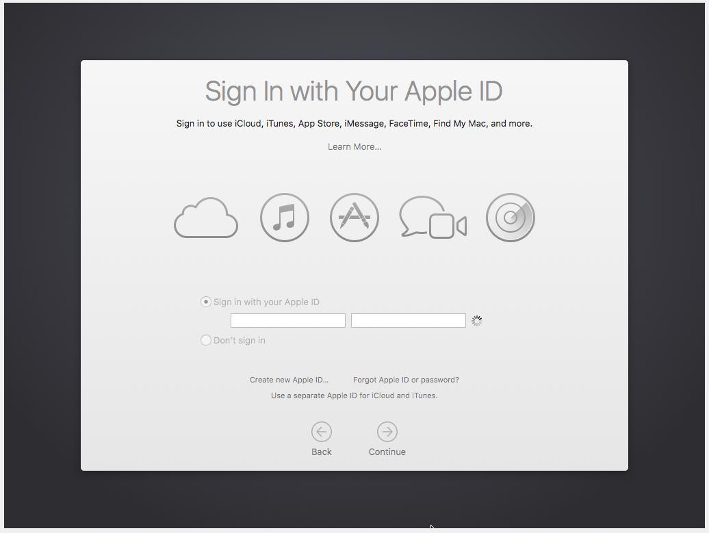 Configurando o Apple ID