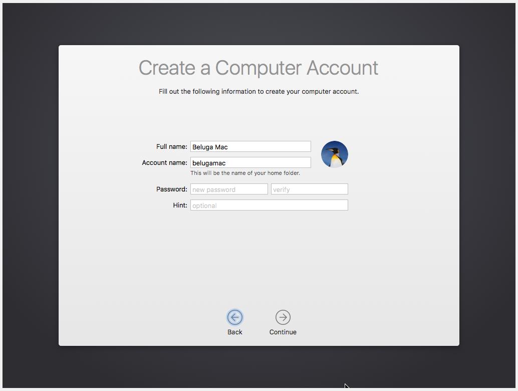 Criando uma conta de acesso