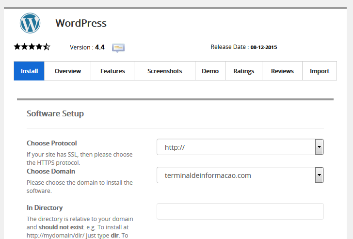 Instalando o WordPress